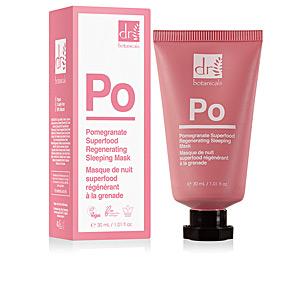 Face moisturizer POMEGRANATE SUPERFOOD regenerating hydrating mask Dr. Botanicals