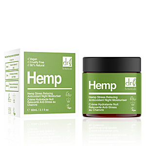Tratamiento Facial Hidratante HEMP stress relaxing antioxidant night moisturiser Dr. Botanicals