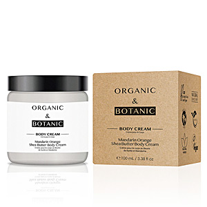 Body moisturiser MANDARIN ORANGE shea butter body cream Organic & Botanic