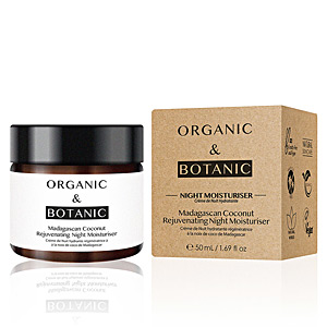 Anti aging cream & anti wrinkle treatment MADAGASCAN COCONUT rejuvenating night moisturiser Organic & Botanic