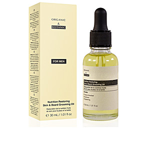 Soin de la barbe FOR MEN nutrition restoring skin&beard grooming oil Organic & Botanic