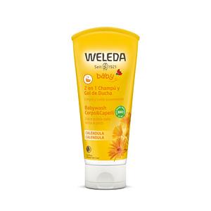 Moisturizing shampoo BABY caléndula champú y gel de ducha Weleda