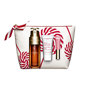 Anti aging cream & anti wrinkle treatment - Skin tightening & firming cream  DOUBLE SERUM SET Clarins