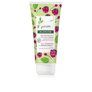 Hygiene for kids - Włosy dla dzieci JUNIOR bath gel hair&body #raspberry Klorane