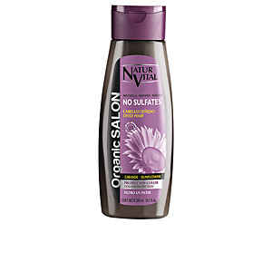 Mascara para cabelo - Mascara para cabelo ORGANIC SALON mascarilla sin sulfatos protección color UV Naturvital