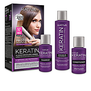 Set coiffure KERATIN BRAZILIAN HAIR STRAIGHTENING COFFRET Kativa