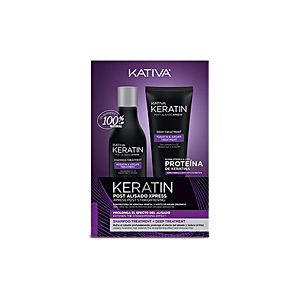 Hair gift set KERATIN POST ALISADO EXPRESS SET Kativa