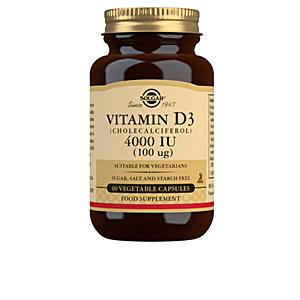 Vitaminas VIT D3 4000 UI 100 mcg. cápsulas vegetales