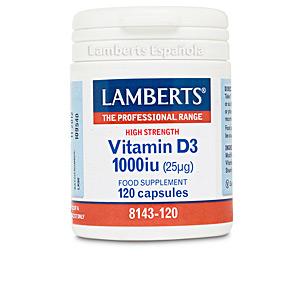 Witaminy VITAMINA D3 1000 UI (25µg) cápsulas Lamberts