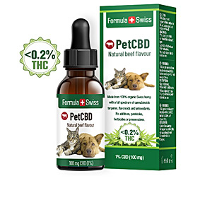 PETCBD natural beef flavour 100mg CBD <0,2% THC 10 ml