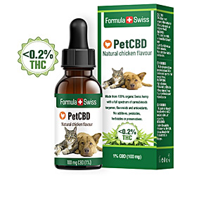 Pet nutrition and health PETCBD natural chicken flavour 100mg CBD <0,2% THC Formula Swiss