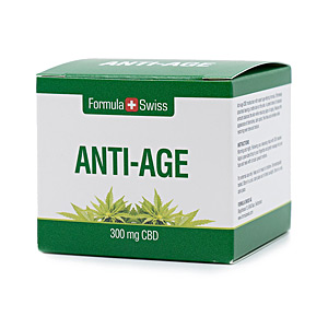 Anti aging cream & anti wrinkle treatment ANTI-AGE 300mg CBD Formula Swiss