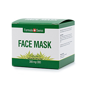 Mascarilla Facial FACE MASK 300mg CBD Formula Swiss