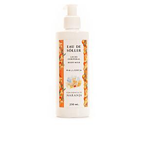 Jabón perfumado EAU DE SÓLLER leche corporal esencia de naranja Eau De Sóller