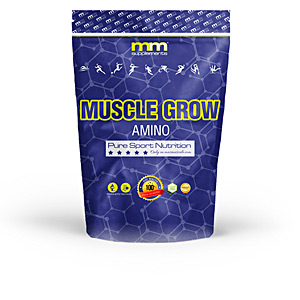 Glutamina, BCAAS, rozgałęzione - Niezbędne aminokwasy, EAA MUSCLE GROW amino #fruit punch Mm Supplements