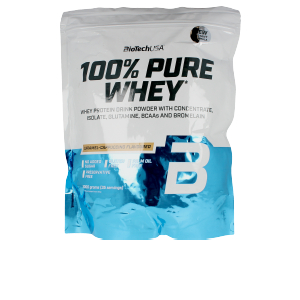 Whey concentrate 100%PURE WHEY #caramelo-cappuccino Biotech Usa
