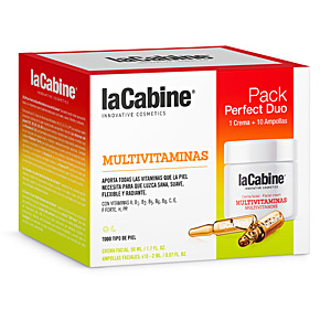 Flash-Effekt - Antioxidative Behandlungscreme PERFECT DUO MULTIVITAMINAS SET La Cabine
