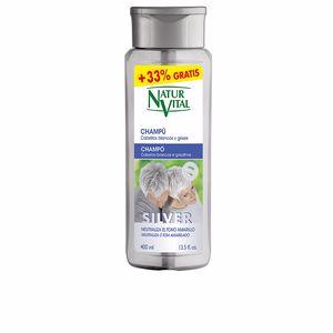 Shampoo proteçao de cor CHAMPU SILVER cabello blanco y gris Naturvital