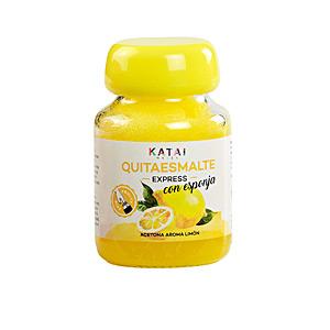 Nail polish remover QUITAESMALTE ESPONJA ACETONA aroma limón Katai