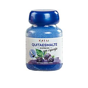 Nail polish remover QUITAESMALTE ESPONJA ACETONA aroma mora Katai