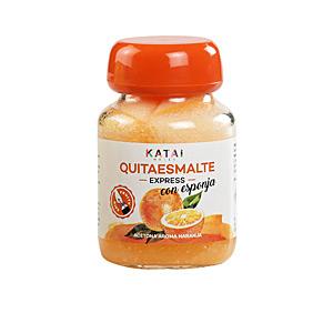 Nail polish remover QUITAESMALTE ESPONJA ACETONA aroma naranja Katai