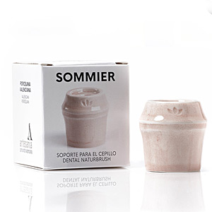 Bath Gift Sets SOMMIER soporte para cepillo dental #rosa Naturbrush