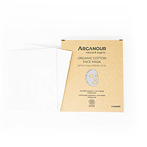 Face mask ORGANIC COTTON face mask with hylaruronic acid Arganour