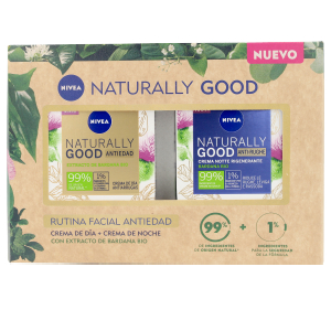 Anti-Aging Creme & Anti-Falten Behandlung NATURALLY GOOD RUTINA FACIAL SET Nivea
