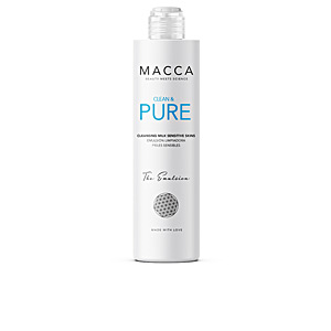 Limpeza facial CLEAN & PURE cleansing milk sensitive skins Macca