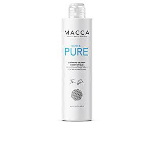 Face scrub - exfoliator CLEAN & PURE cleansing gel with microparticles Macca