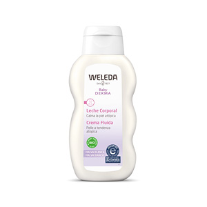 Body moisturiser BABY DERMA leche corporal de malva blanca Weleda