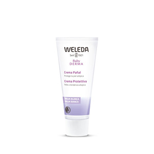 Body moisturiser BABY DERMA crema pañal de malva blanca Weleda