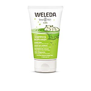 Productos para el cabello de niños - Champú brillo - Champú desenredante KIDS champú y gel 2 en 1 lima chispeante Weleda