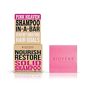 Moisturizing shampoo PINK HEAVEN NOURISH RESTORE solid shampoo bar Biovene