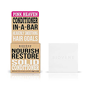 Hair repair conditioner PINK HEAVEN NOURISH RESTORE solid conditioner bar Biovene