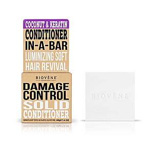 Hair repair conditioner COCONUT&KERATIN DAMAGE CONTROL solid conditioner bar Biovene