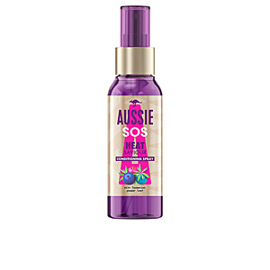 Heat protectant for hair SOS HEAT SAVIOUR leave-on spray Aussie