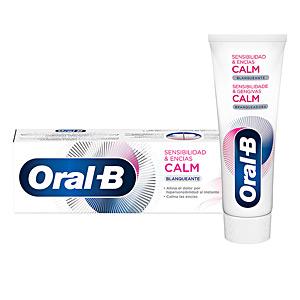 Toothpaste SENSIBILIDAD & ENCÍAS CALM blanqueante dentífrico Oral-B