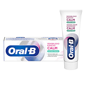 Toothpaste SENSIBILIDAD & ENCÍAS CALM extra fresh dentífrico Oral-B