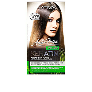 Hair straightening treatment KERATIN ANTI-FRIZZ alisado sin plancha extra brillo 30 días Kativa