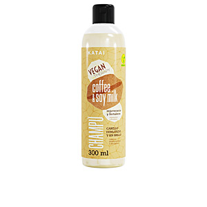 Shampoo for shiny hair COFFEE & SOY MILK LATTE champú Katai