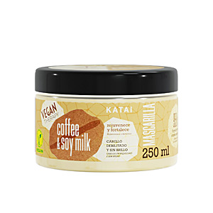 Shiny hair mask - Hair mask for damaged hair COFFEE & SOY MILK LATTE mascarilla Katai