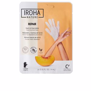 Tratamientos y cremas manos PEACH hand & nail mask gloves repair Iroha Nature