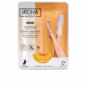 Tratamientos y cremas pies PEACH foot mask socks repair Iroha Nature