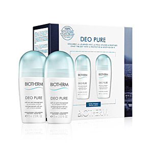Deodorant DEO PURE INVISIBLE ROLL-ON SET Biotherm