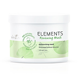 Acondicionador antiencrespamiento - Acondicionador reparador - Acondicionador brillo ELEMENTS renewing mask Wella