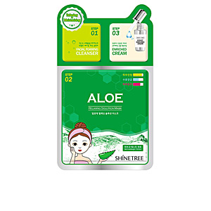 Face mask ALOE relaxing solution mask 3 steps Shinetree