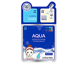 Face mask AQUA hyaluronic solution mask 3 steps Shinetree