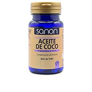 Omegas and fatty acids SANON aceite de coco cápsulas blandas Sanon