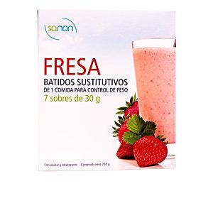 Mass gainer SANON BATIDO SUSTITUTIVO sabor fresa sobres Sanon